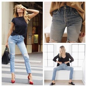 Re/Done High Rise Ankle Crop stretch 24 BNWT